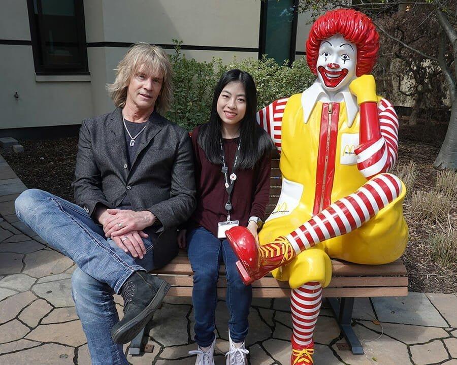 David Victor visits Ronald McDonald House Stanford